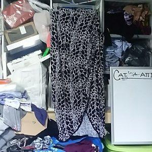 Worthington Knit Maxi faux wrap skirt EUC